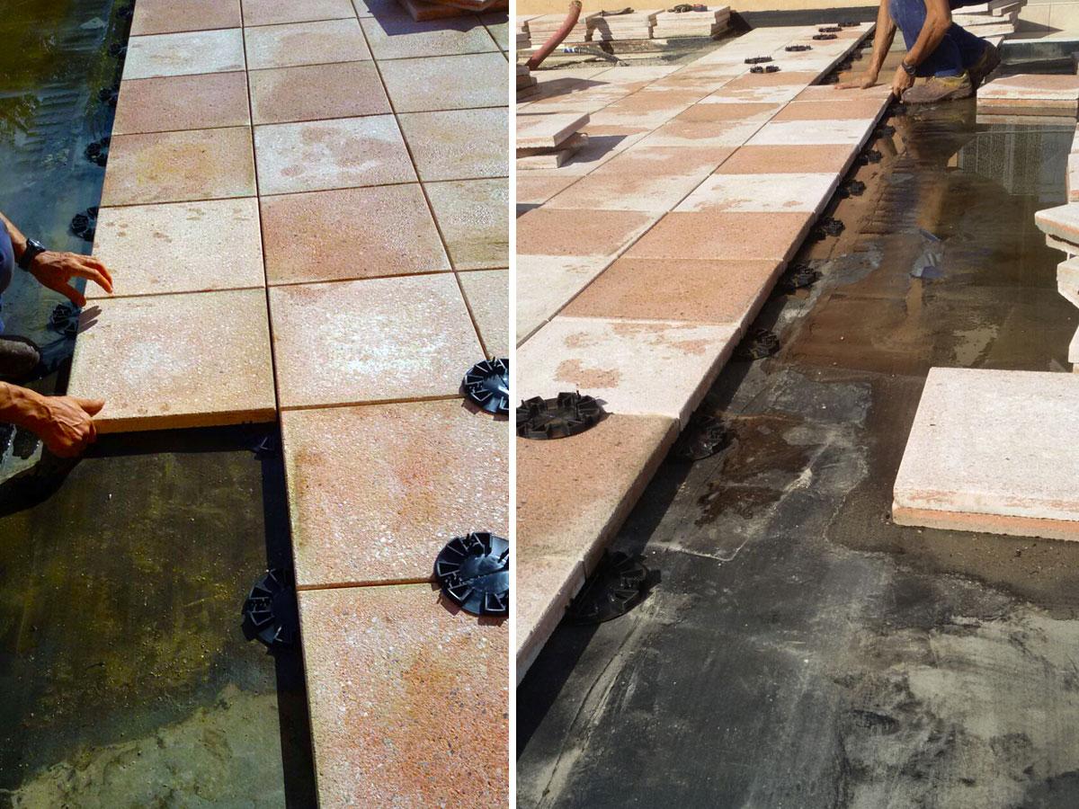 Posa pavimentazione galleggiante su guaina bituminosa abitazione civile