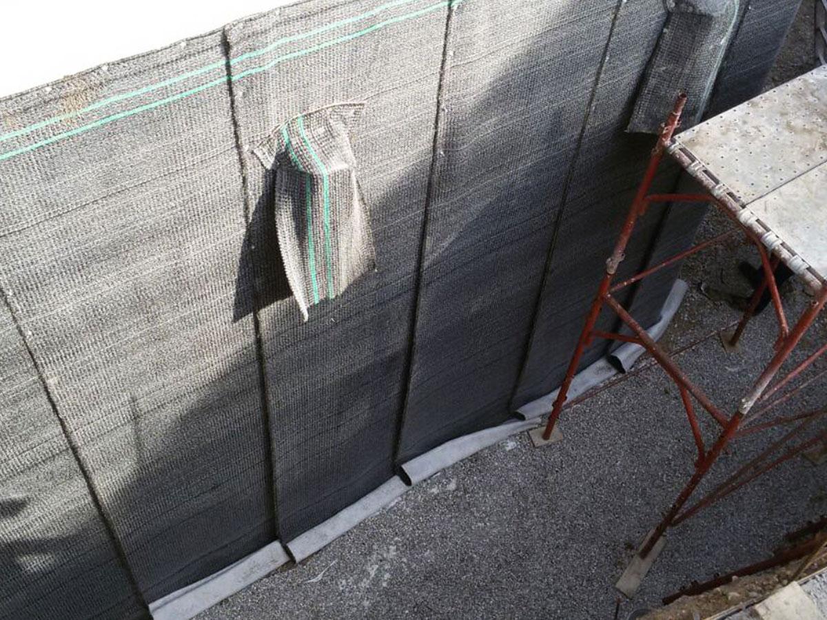 Impermeabilizzazione verticale con telo betonitico