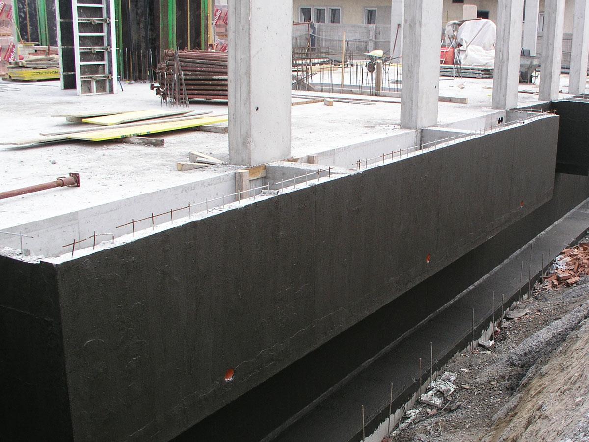 Impermeabilizzazione verticale con rivestimento impermeabile